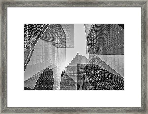 Toronto Financial District Framed Print