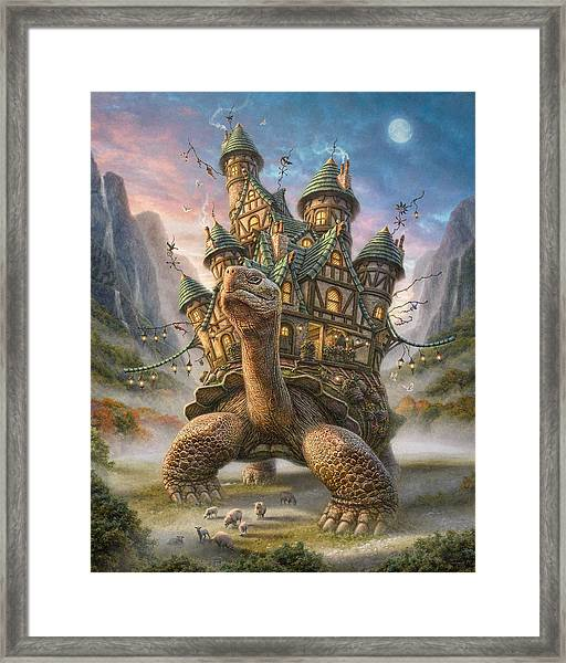 Tortoise House Framed Print