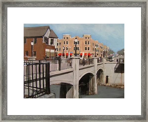 Tosa Village Bridge Framed Print
