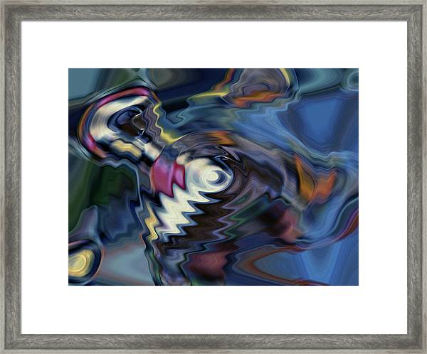 total discombobulation from      U refuse to consider my point Framed Print