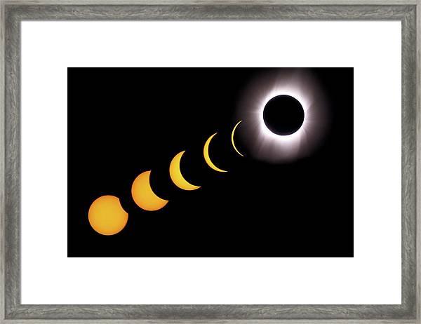 Total Eclipse Sequence, Aruba, 2/28/1998 Framed Print