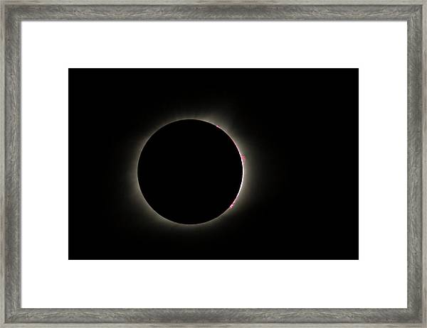 Total Eclipse Solar Flares Framed Print