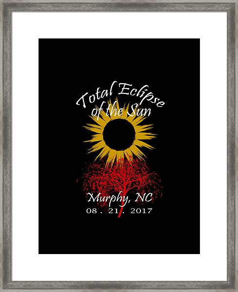 Total Eclipse T-shirt Art Murphy Nc Framed Print