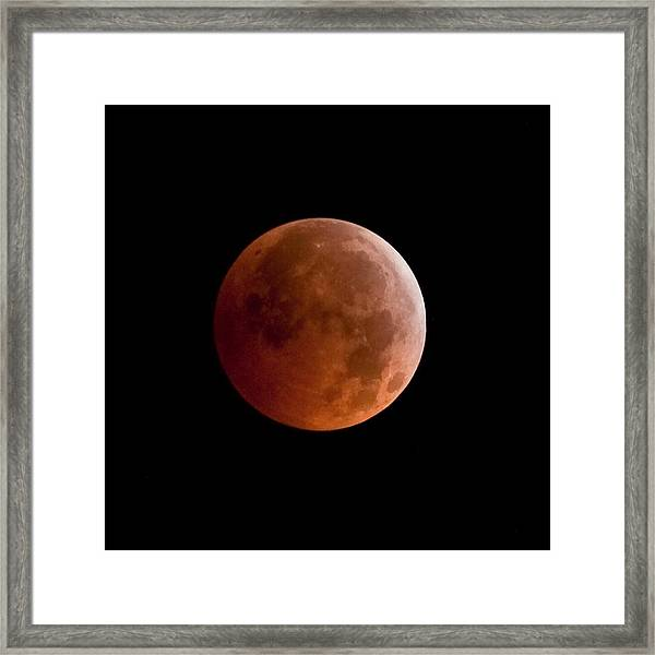 Total Lunar Eclipse Framed Print