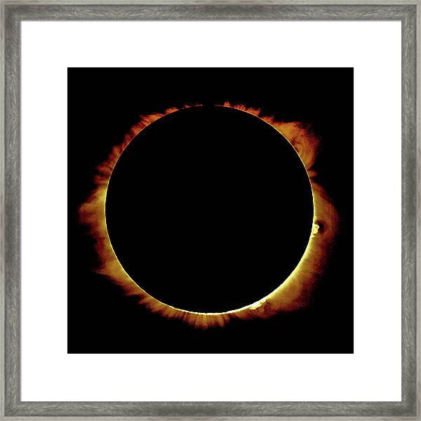 Totality Over Processed Framed Print