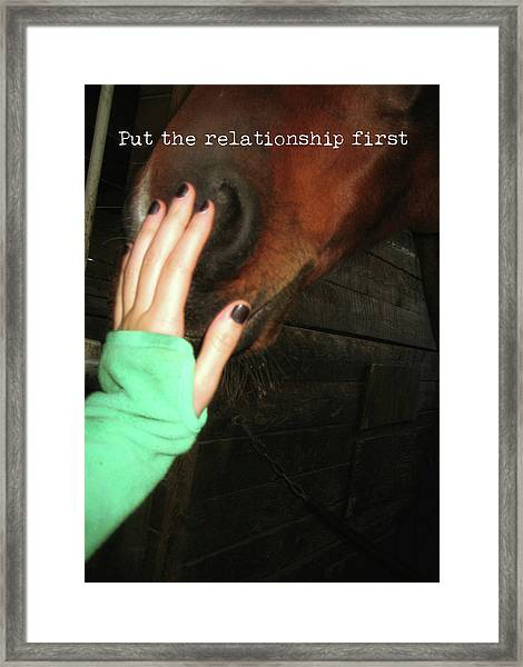 Touch Quote Framed Print