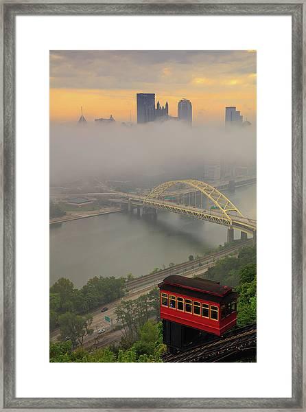Touch Of Fog  Framed Print
