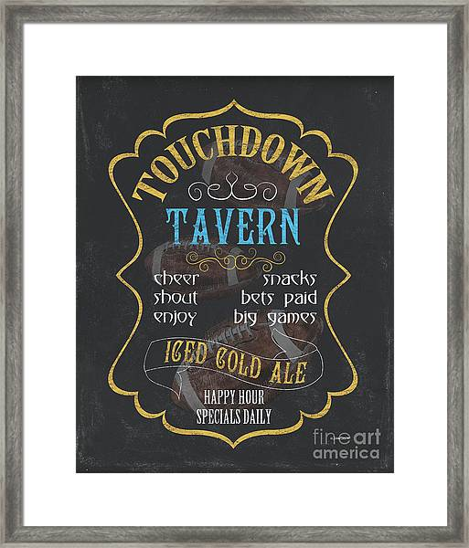 Touchdown Tavern Framed Print