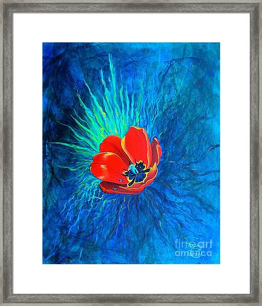 Touched By His Light Framed Print