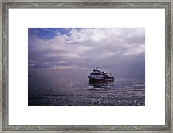 Tour Boat San Francisco Bay Framed Print