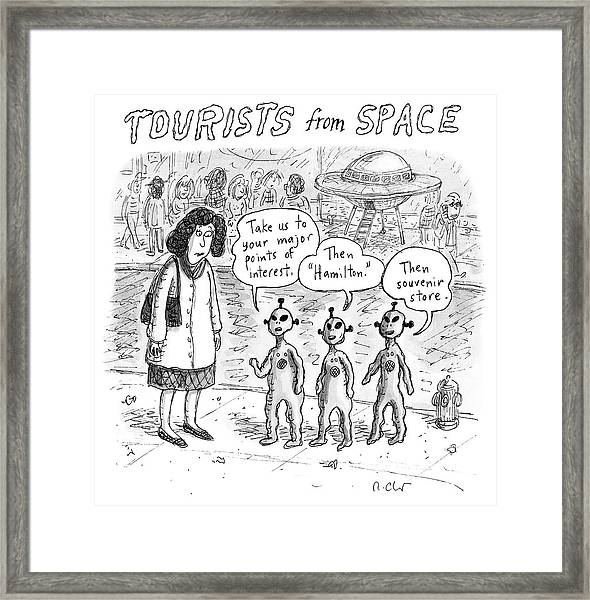 Tourists From Space Framed Print