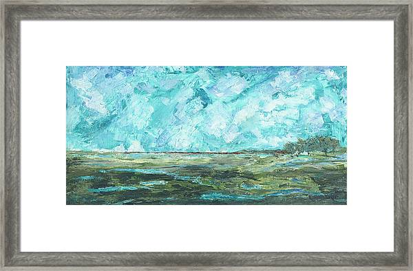 Framed Print featuring the painting Toward Pinckney Island by Kathryn Riley Parker