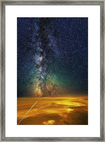 Towards The Core Framed Print