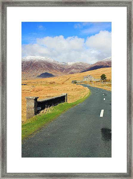 Towards The Mountain Framed Print