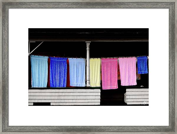 Towel Line Stark New Hampshire Framed Print