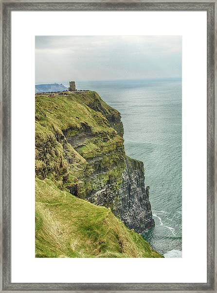 Tower At The Cliffs Of Moher Framed Print