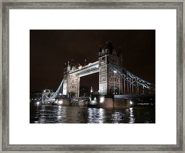 Tower Bridge By Night Framed Print