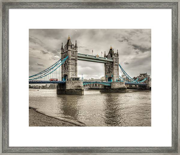 Tower Bridge In London In Selective Color Framed Print