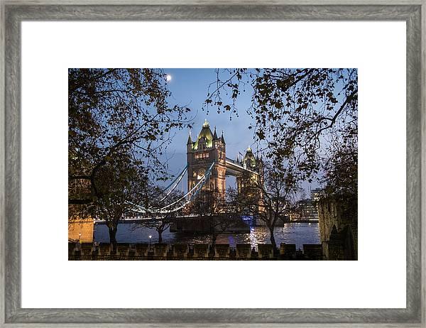 Tower Moon Framed Print