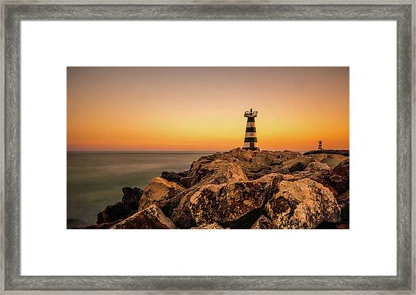 Framed Print featuring the photograph Tower Of Light by Nick Bywater