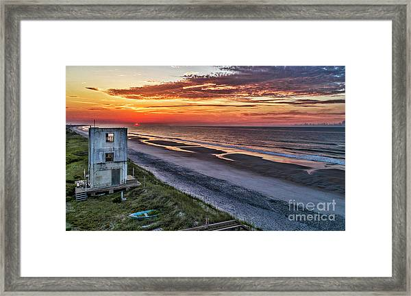 Framed Print featuring the photograph Tower Sunrise by DJA Images