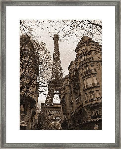 Towering Eiffel Framed Print