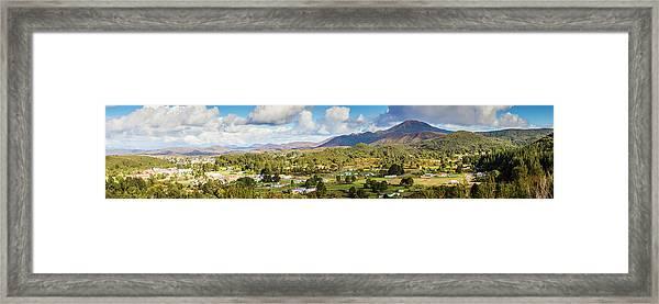 Town Of Zeehan Australia Framed Print