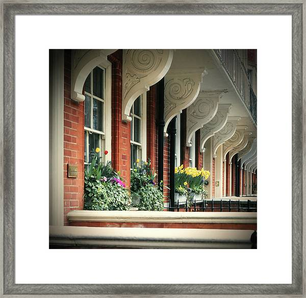 Townhouse Row - London Framed Print