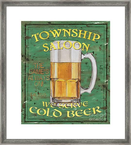 Township Saloon Framed Print
