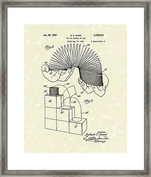 Toy 1947 Patent Art Framed Print