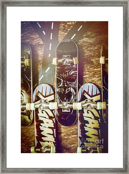 Toy Skateboards Framed Print