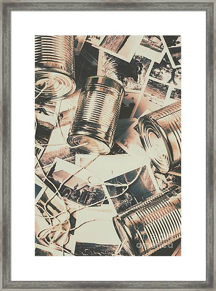 Toy Telecommunications Framed Print