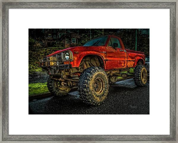 Toyota Grunge Framed Print