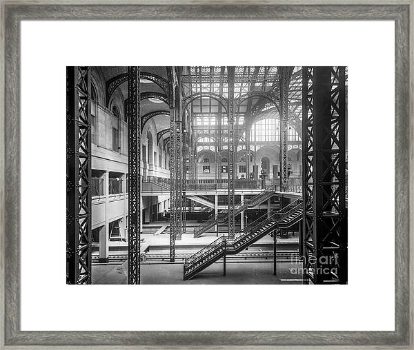 Track Level And Concourses Pennsylvania Station New York Framed Print