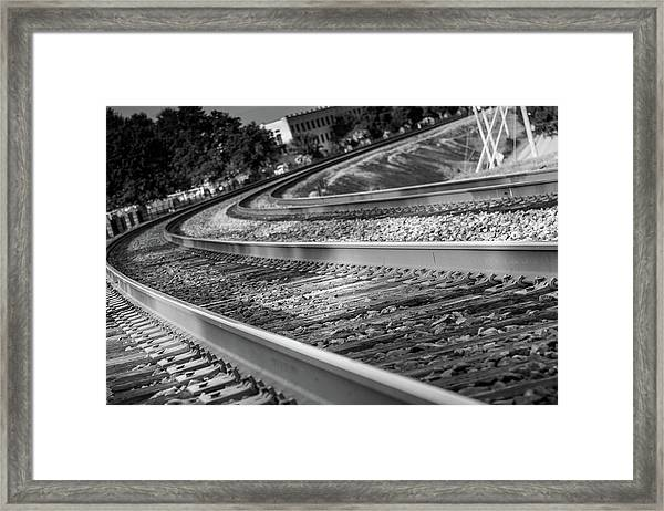Tracks Through Historic Buford Framed Print