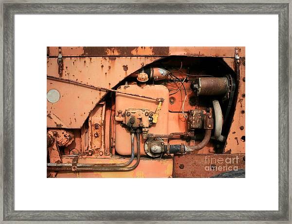 Tractor Engine V Framed Print