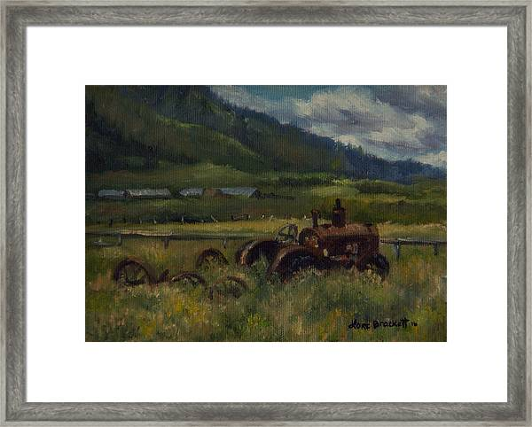 Tractor From Swan Valley Framed Print