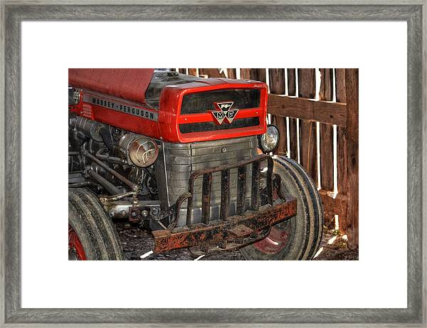 Tractor Grill  Framed Print