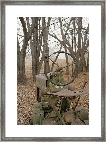 Tractor Morning Framed Print
