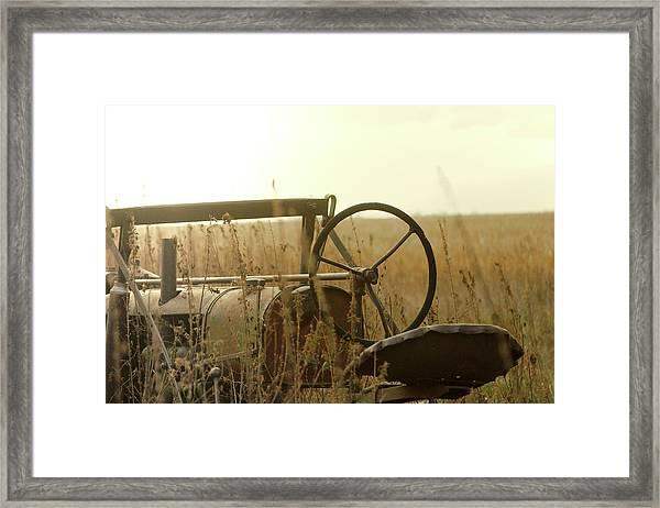 Tractor Sunrise Framed Print