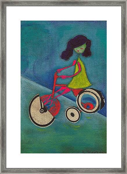 Tracy Cycles Framed Print by Ricky Sencion