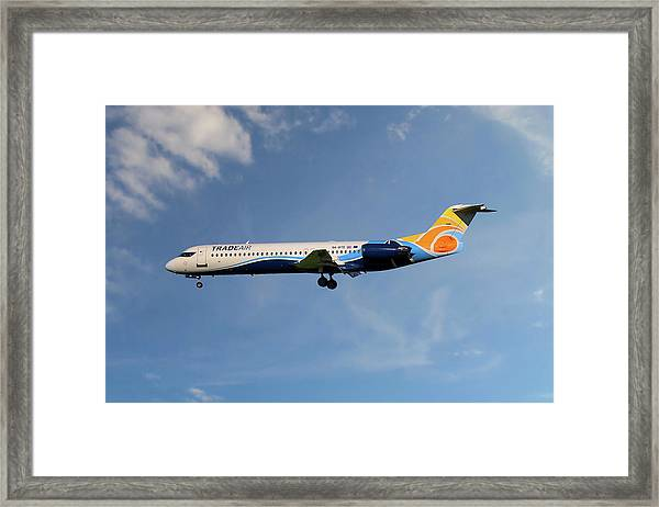 Trade Air Fokker 100 Framed Print