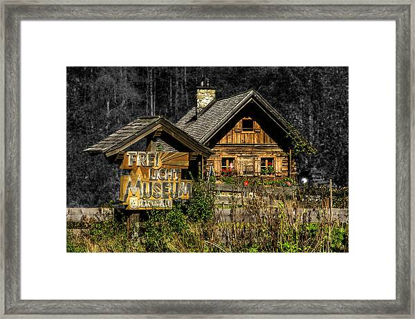 Traditional Austrian Wooden House Framed Print
