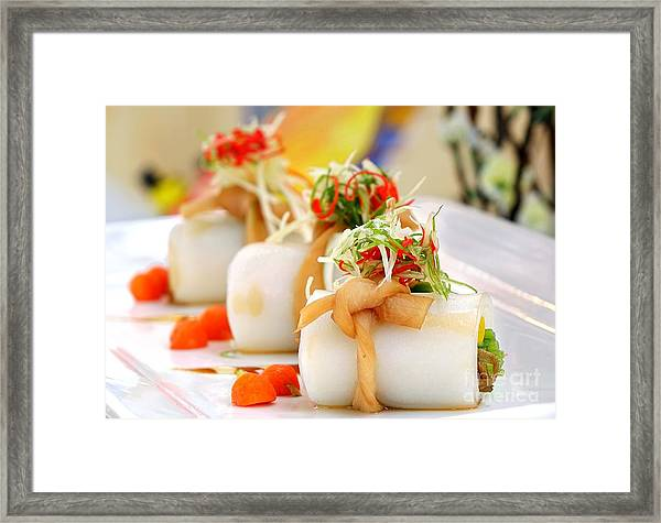 Traditional Chinese Hakka Rice Noodle Roll Framed Print