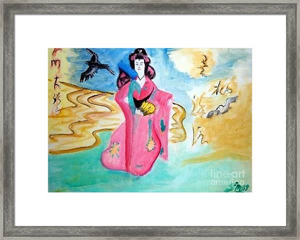 Traditional Geisha Framed Print