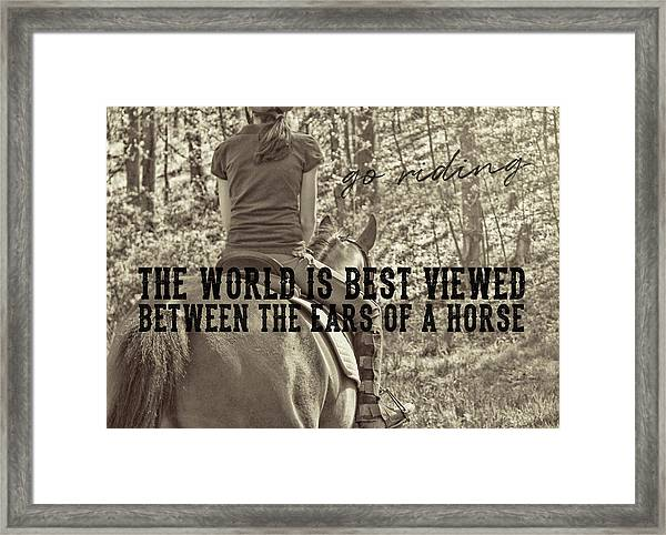 Trail Ride Quote Framed Print