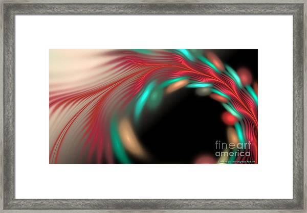 Framed Print featuring the digital art Trailing Hearts by Sandra Bauser Digital Art