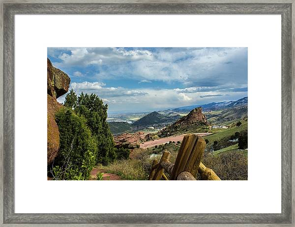 Trails At Red Rocks Framed Print