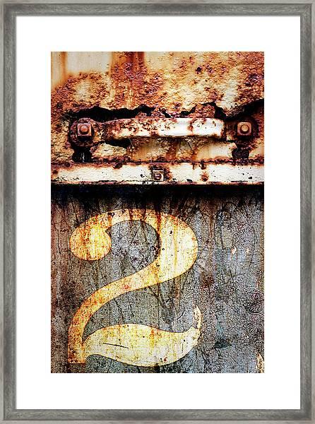 Train Bits In Eureka California Framed Print
