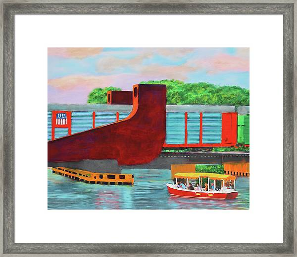 Train Over The New River Framed Print